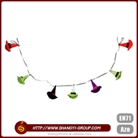 New product colorful hats hang garland halloween party stage decoration