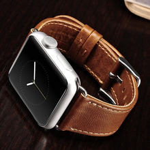 ICARER Apple iWatch Döngü için 2016 Hakiki deri Watch Band 38mm 42mm
