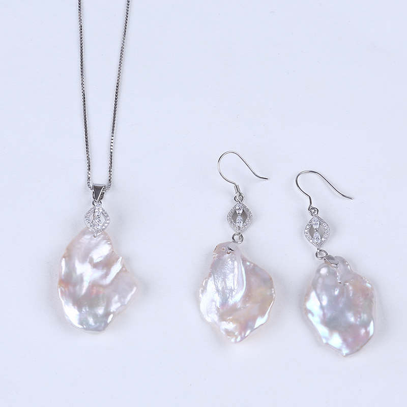 Wholesale big baroque freshwater pearl jewellery sets