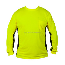 NEW for 2017 Wholesale Cheap Long Sleeve Hi Vis T-Shirt
