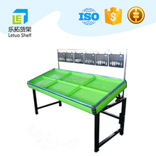 2017 Good quality supermarket /store fruit & vegetable and advertising display shelves rack