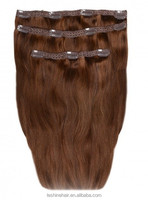 Best Selling In America 220g Indian Remy triple weft clip in hair extensions