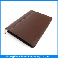 Wholesale popular leather A5 agenda organizer planner notebook with calculator