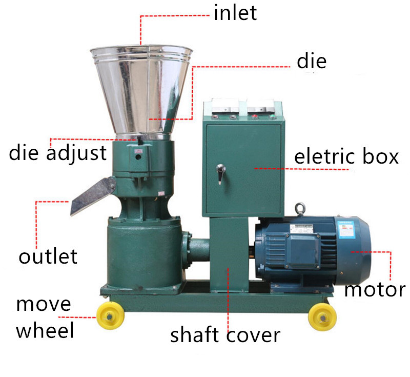 Kleine Veevoer Apparatuur Geit Pellet Making Machine