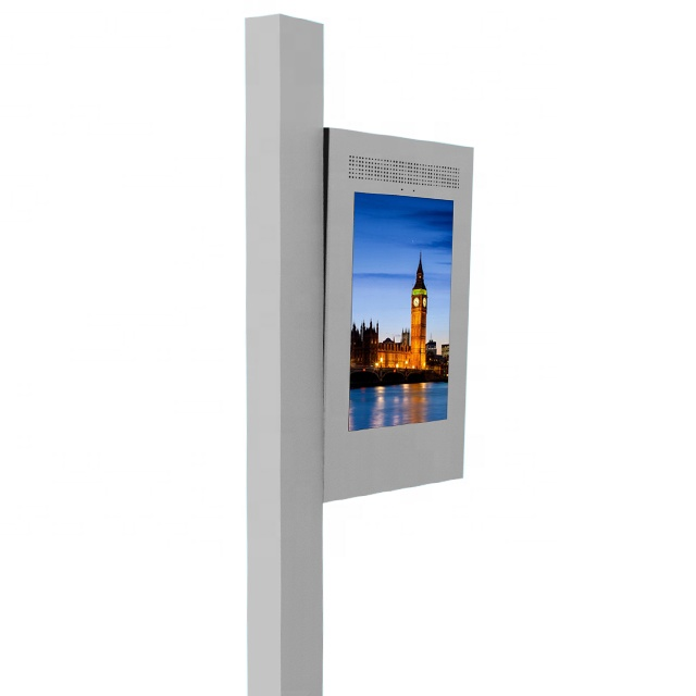 LAN/Wifi/3G/4G road light <strong>LED</strong> <strong>display</strong> monitor outdoor TV intelligent management street pole <strong>led</strong> panel advertising