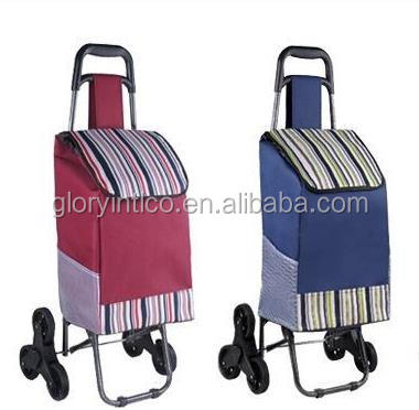 2016 Hot sale Three wheels foldable shopping cart, shopping bag for outdoor