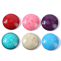 Mixing color Cracked Resin gemstone 100pcs 25x18mm ,Crackle Stone Beads without holes