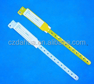 Plastic medical id bracelets,hospital bracelet