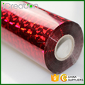 Laser Photoscope Red Hot Stamping Foil/Film Roll Based on PET material for Plastic/PVC/Chair/Decoration/Cup/Accessories