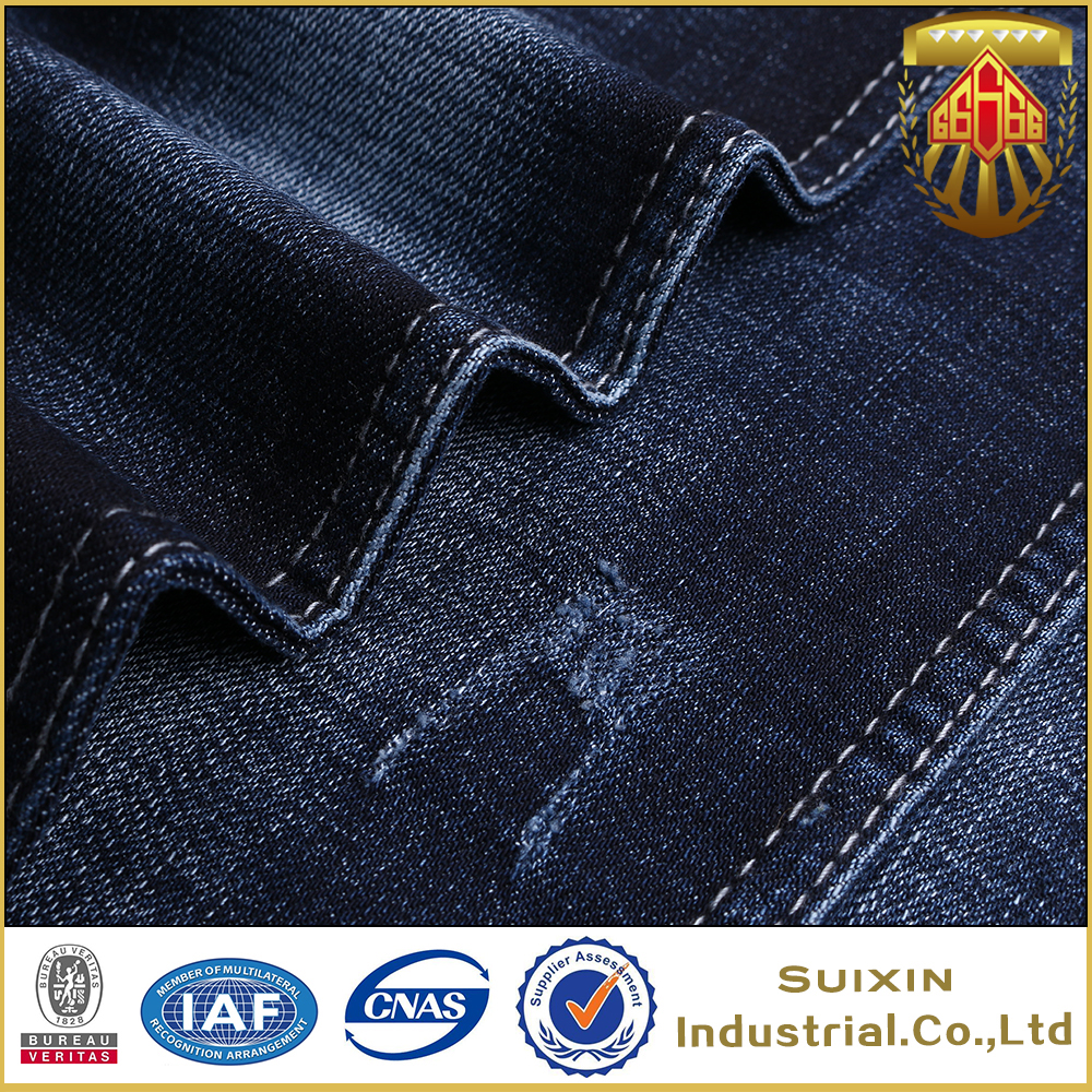SuiXin factory wholesale cotton T400 viscose woven denim fabric