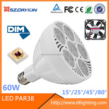 3 years warranty led PAR38 spotlight 30w 40w 50w 60w par38 led jewelry display lighting