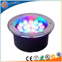 Cheap price RGB remote control underground led light solar stainless steel deck light rgb led underground lamp for driveway
