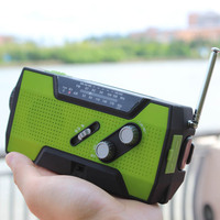 Hot Sales AM/FM/NOAA dynamo flashlight with radio alarm and cell phone