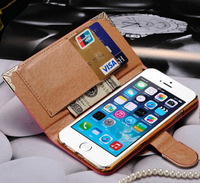 Premium Quality Leather For Iphone 6 6S Shining Crystal Bling Diamond Phone Case