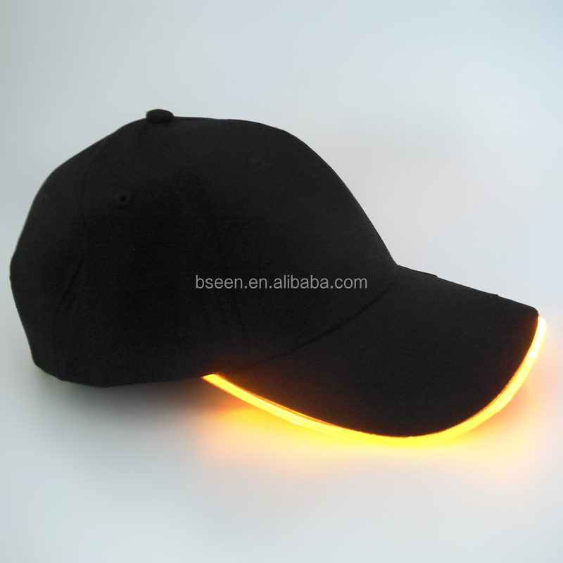 Best selling products 2017 in sports led glow in the dark <strong>cap</strong>