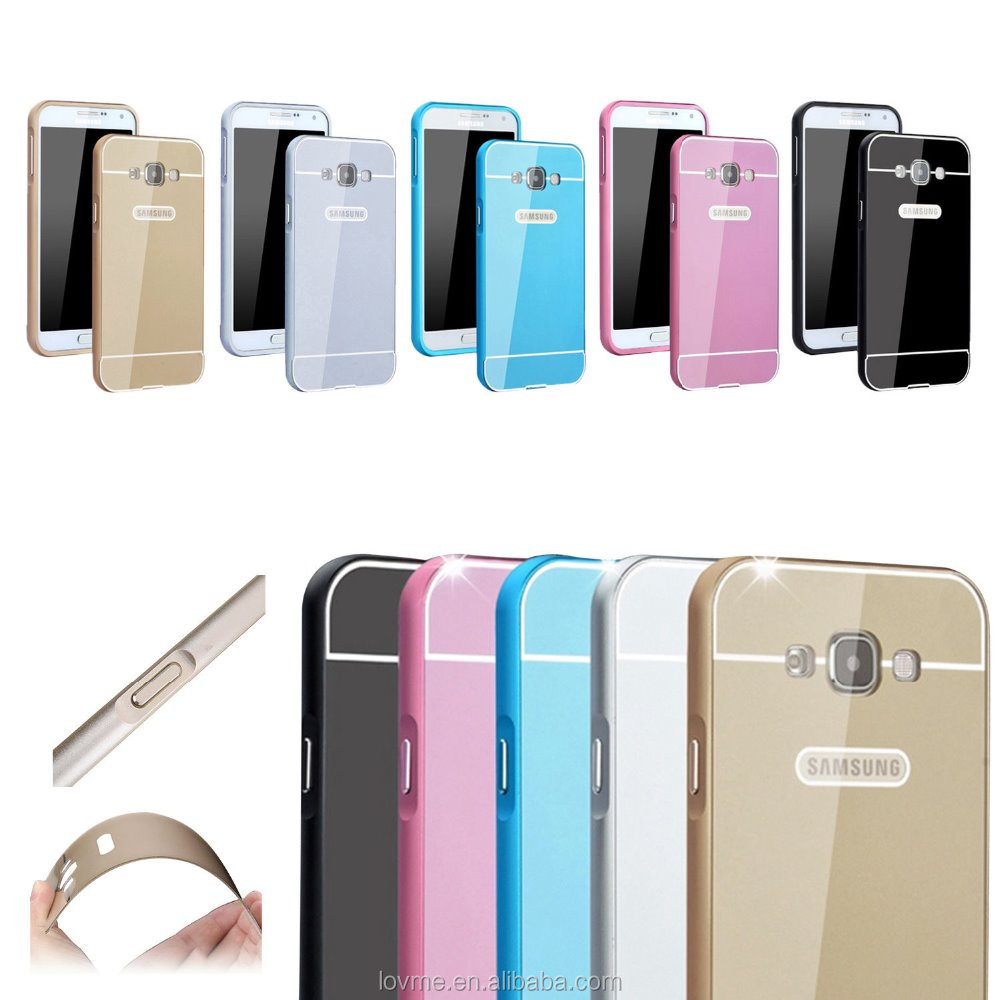 Ultra Thin Metal Aluminum Bumper Frame Plastic Hard Back Case Cover For Samsung Galaxy A8