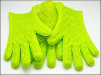 Grilling BBQ Cooking Baking Smoking & Potholder Mitts - Offers Max Heat Protection Heat Resistant Silicone Gloves oven