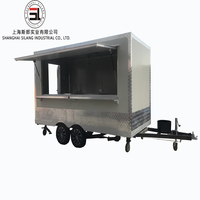 Best quality Food Trailer Ice cream trailer Thailand fried ice hot god cart