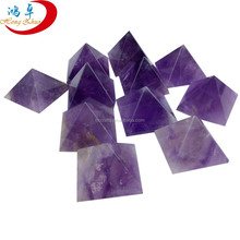Amethyst singing pyramid for healing therapy energy