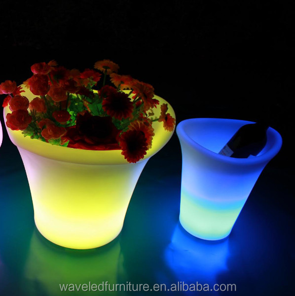 Hot selling Wine bucket party cooler light belvedere illuminated led ice bucket