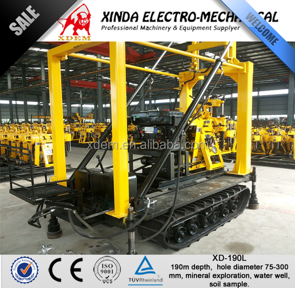 190m Crawler Mounted Drilling Machine XD-190L Water Well Rig Used for Sale