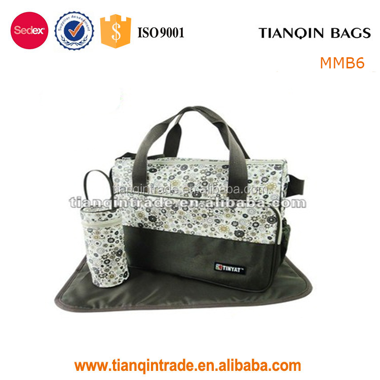 factory supply wholesale flower adult baby diaper bag for mother