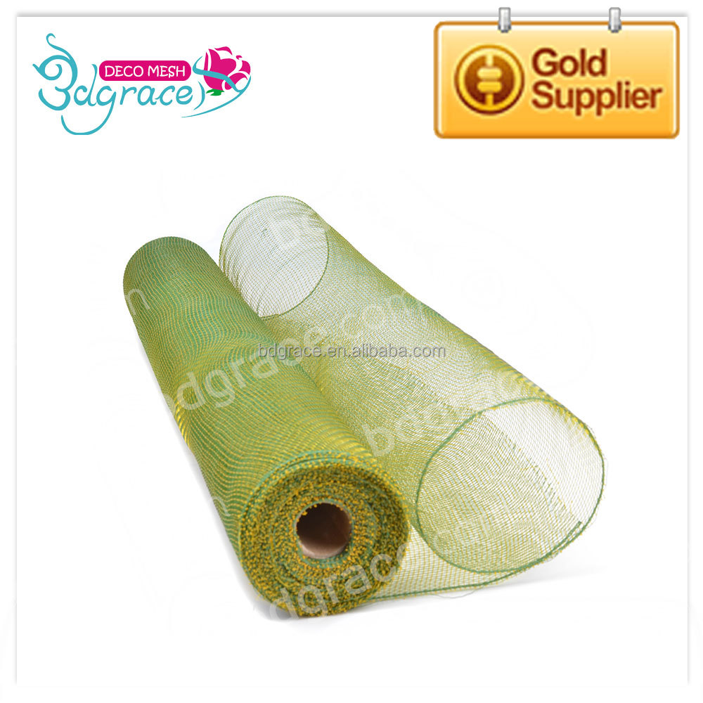 21'' New Design Gift Wrapping Deco Mesh Roll For Wreaths