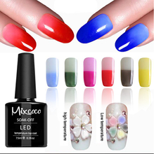 Mixcoco New Products Mood Change Thermo Color Gel nail Polish Top Coat for Autumn and winter new style