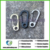 Newly Arrival Fashion Portable Tools D-type Buckle Hanging Carabiners - Color Silver Black Sport