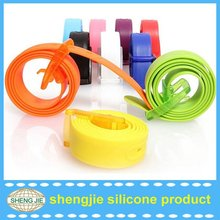 New products faishion Acessories silicone belt for different size