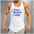 Men clothing tank top male summer thin vest for adult fitness gym equipment tank top custom your brand logo