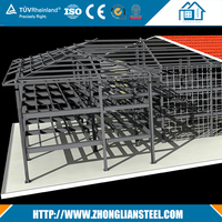 Fabricated steel structure warehouse drawings