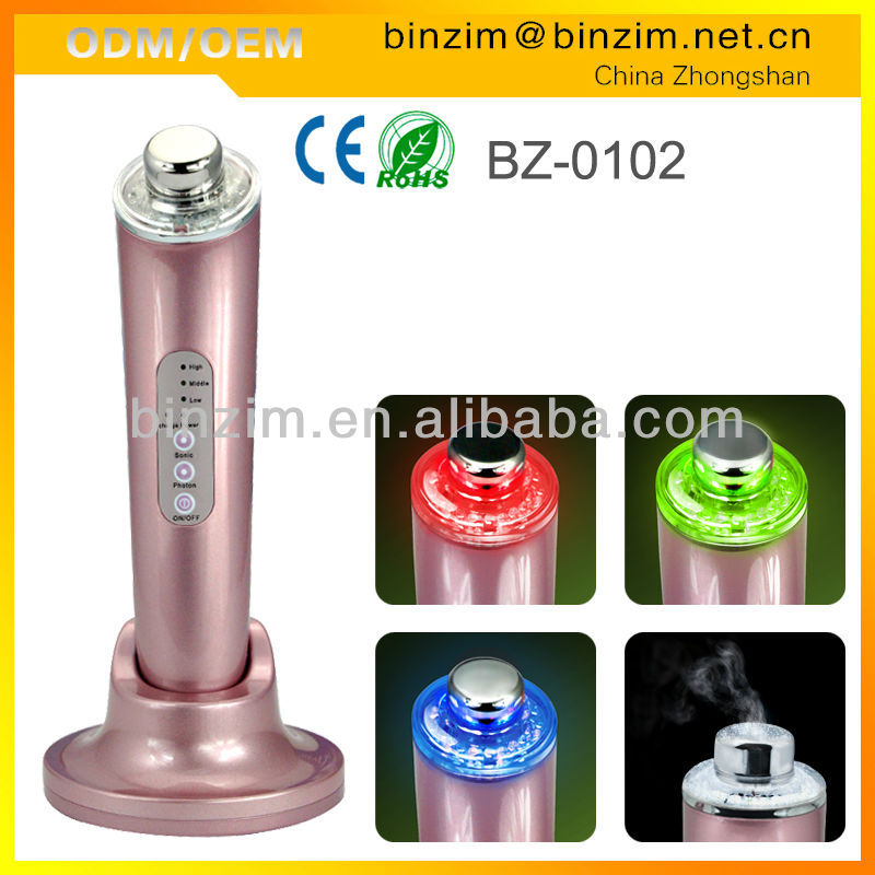 2013 most popular china new innovative portable rechargeable photon ultrasonic beauty product made in china