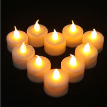 12 x NEW FLAMELESS FLICKERING LED TEA LIGHT CANDLES BATTERY OPERATED TEALIGHTS happy birthday candle