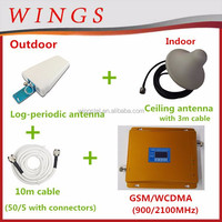 3g modem cell phone booster dual band signal power amplifiers gsm/wcdma 900/2100Mhz made in china