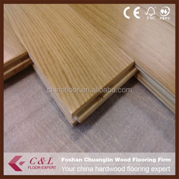 Natural UV oil prefinished Oak solid wood flooring hardwood flooring