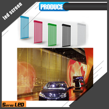 Outdoor/indoor high brightness flexible curtain p31.25 mesh led screen transparent for advertising sale
