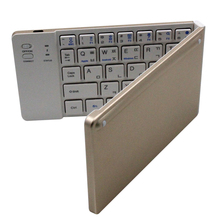 High Quality Abs Wireless Portable Mini Folding Bluetooth Keyboard Rohs