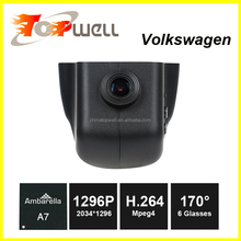 2016 Newest Hidden Installation Original Fit Ambarella A7 1296P WIFI Car Black Box for Volkswagen