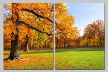 BC25041 Autumn landscape design 2 Panel canvas printing,handmade beautiful scenery oil painting on canvas