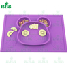 2016 silicone placemat with bowl and tray for kids FDA LEGB