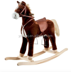 plush animal rocking horse wooden rocking horse plush rocking horse with sound