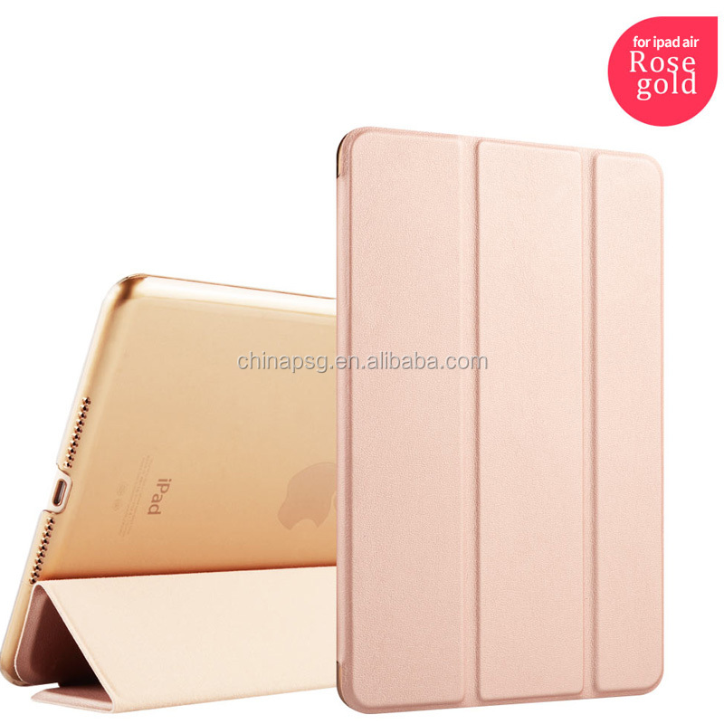 dirtyproof ultrathin three fold pu leather case for ipad air 2 for ipad 6 hard case