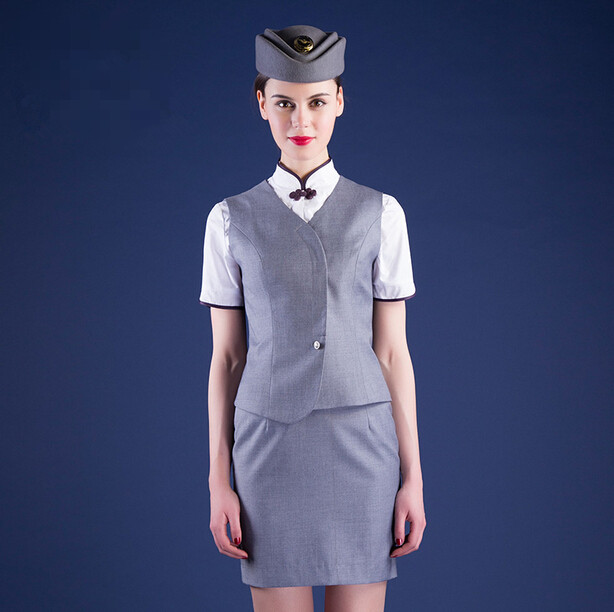 Fashion Nice Design Airline stewardess Uniform /Elegant Air Hostess Uniform