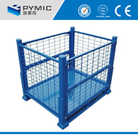 China wholesale rolling metal storage cage/lockable storage cage/Storage cage with wheels