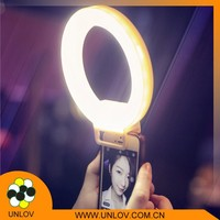 2016 Cheapest price circle led mini selfie flash light for smartphone
