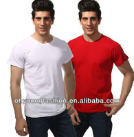 Men's T shirts Blank 100 Cotton/polyester White T shirts Clothing Custom Wholesale In China