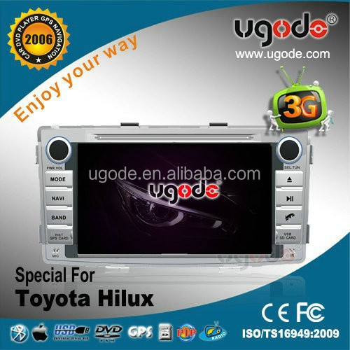 Factory OEM hot sale double din for 2012 Toyota Hilux car radio