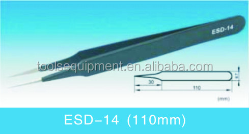 Anti-static Stainless Steel Tweezers ESD-14