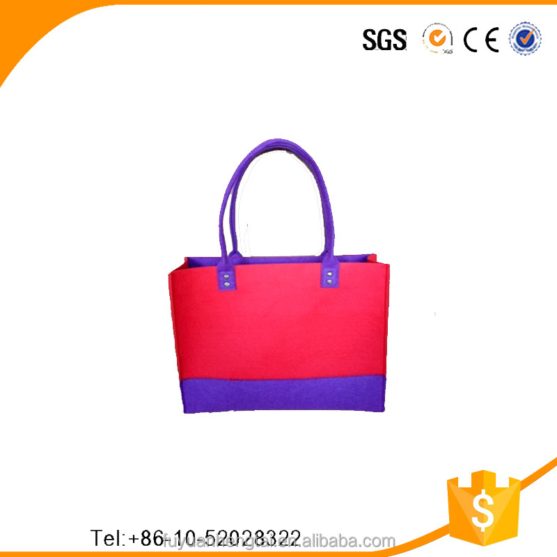 Fast-delivery simple colorful felt ladies purses wholesale from China golden manufacturer,